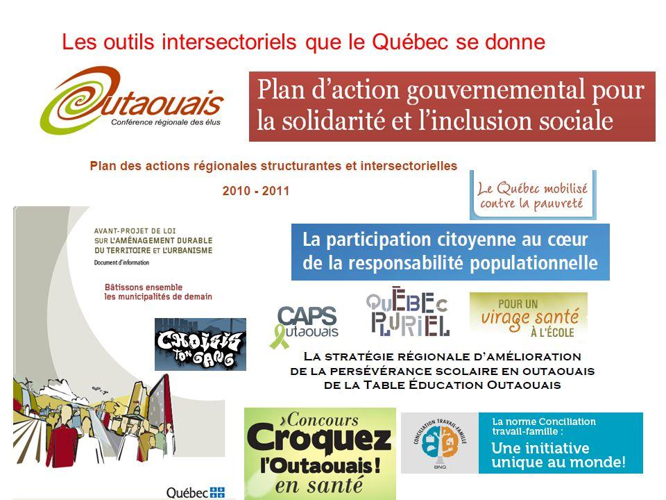 Les outils intersectoriels que le Québec se donne