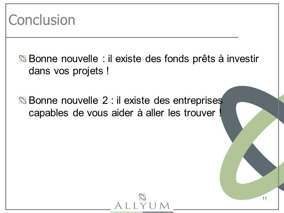 Conclusion Bonne nouvelle : il existe des fonds prêts à investir dans vos projets !