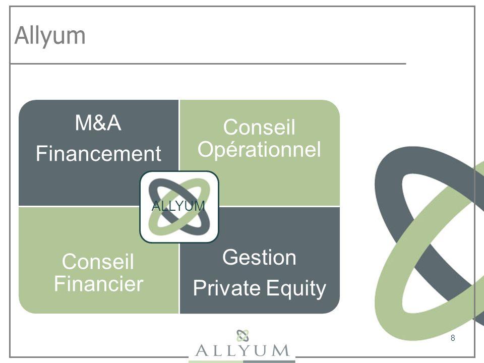 Allyum ALLYUM Financement M&A Conseil Opérationnel Conseil Financier
