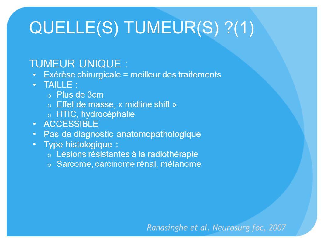 QUELLE(S) TUMEUR(S) (1)