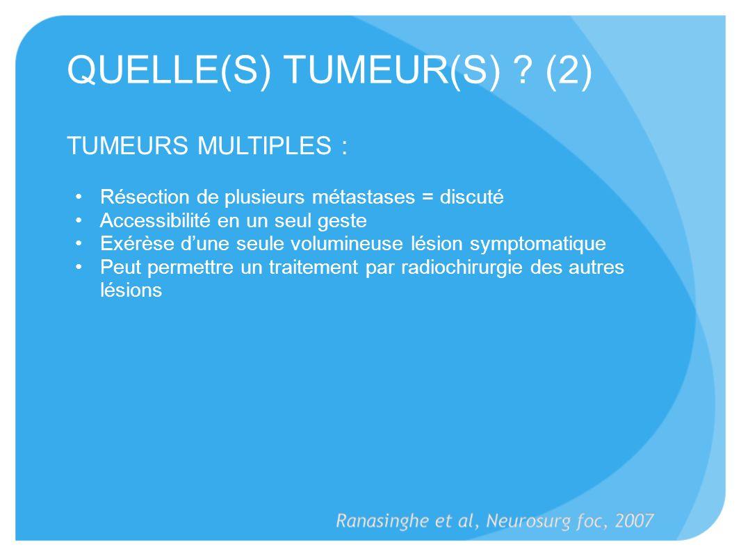 QUELLE(S) TUMEUR(S) (2)