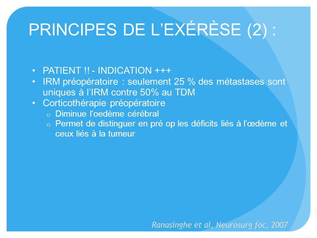 PRINCIPES DE L'EXÉRÈSE (2) :