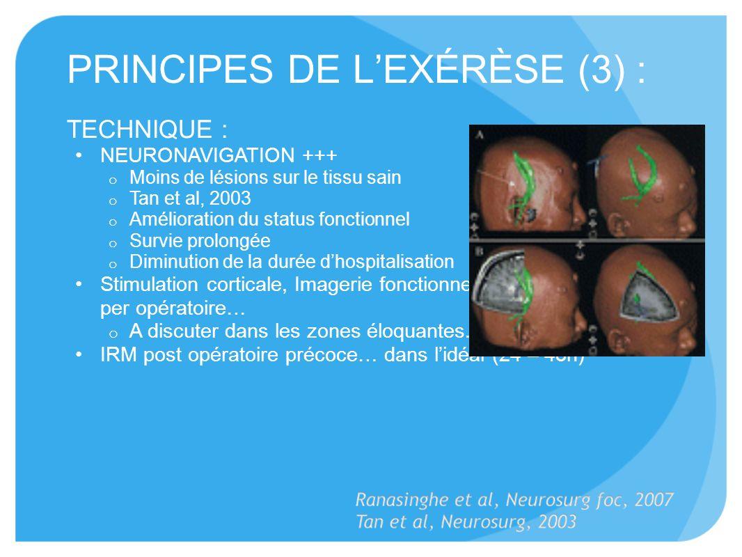 PRINCIPES DE L'EXÉRÈSE (3) :