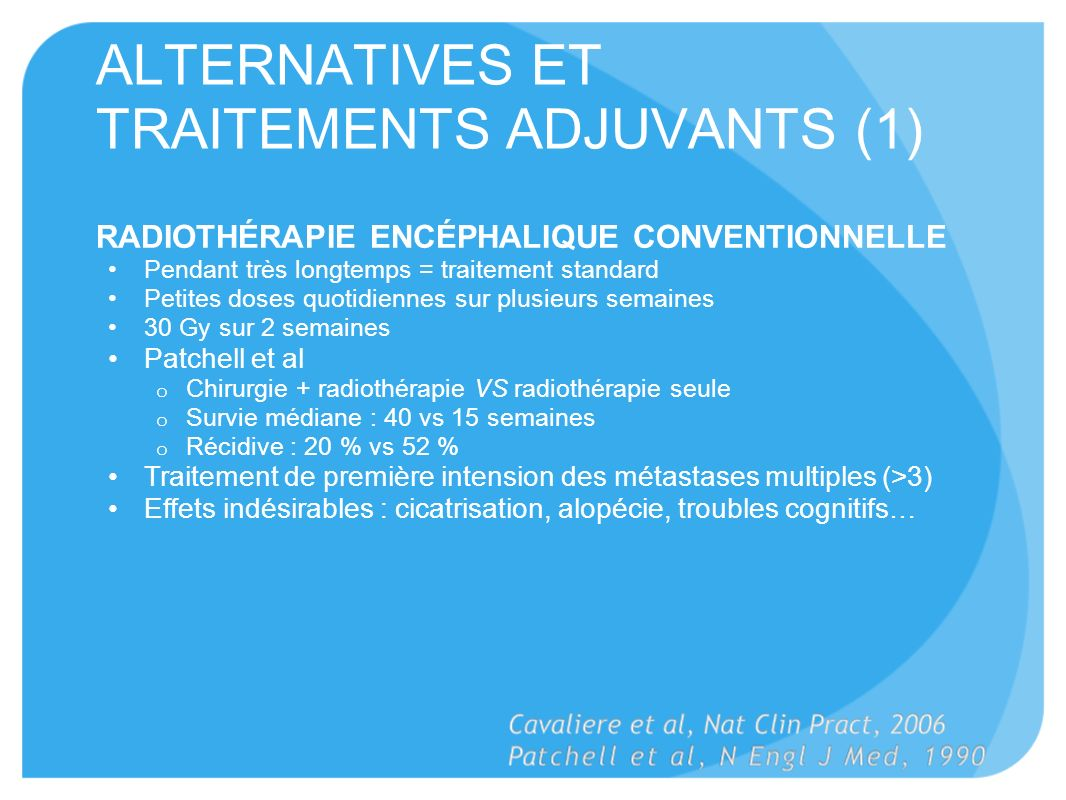 ALTERNATIVES ET TRAITEMENTS ADJUVANTS (1)