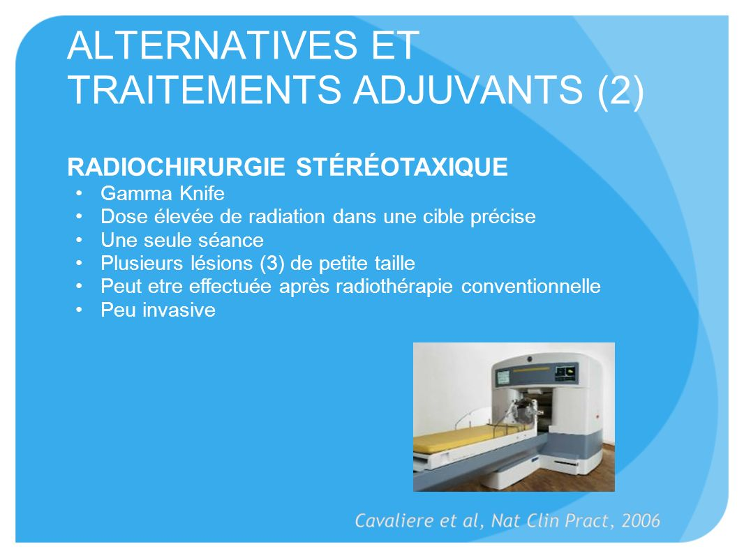 ALTERNATIVES ET TRAITEMENTS ADJUVANTS (2)
