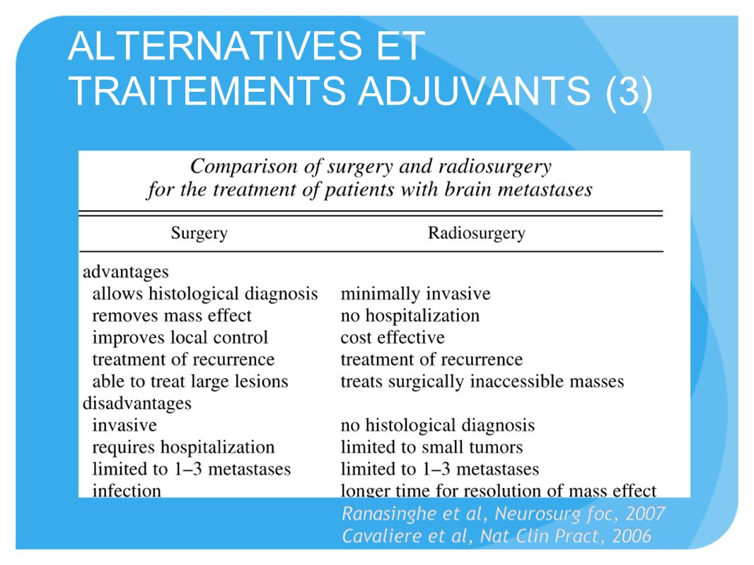 ALTERNATIVES ET TRAITEMENTS ADJUVANTS (3)
