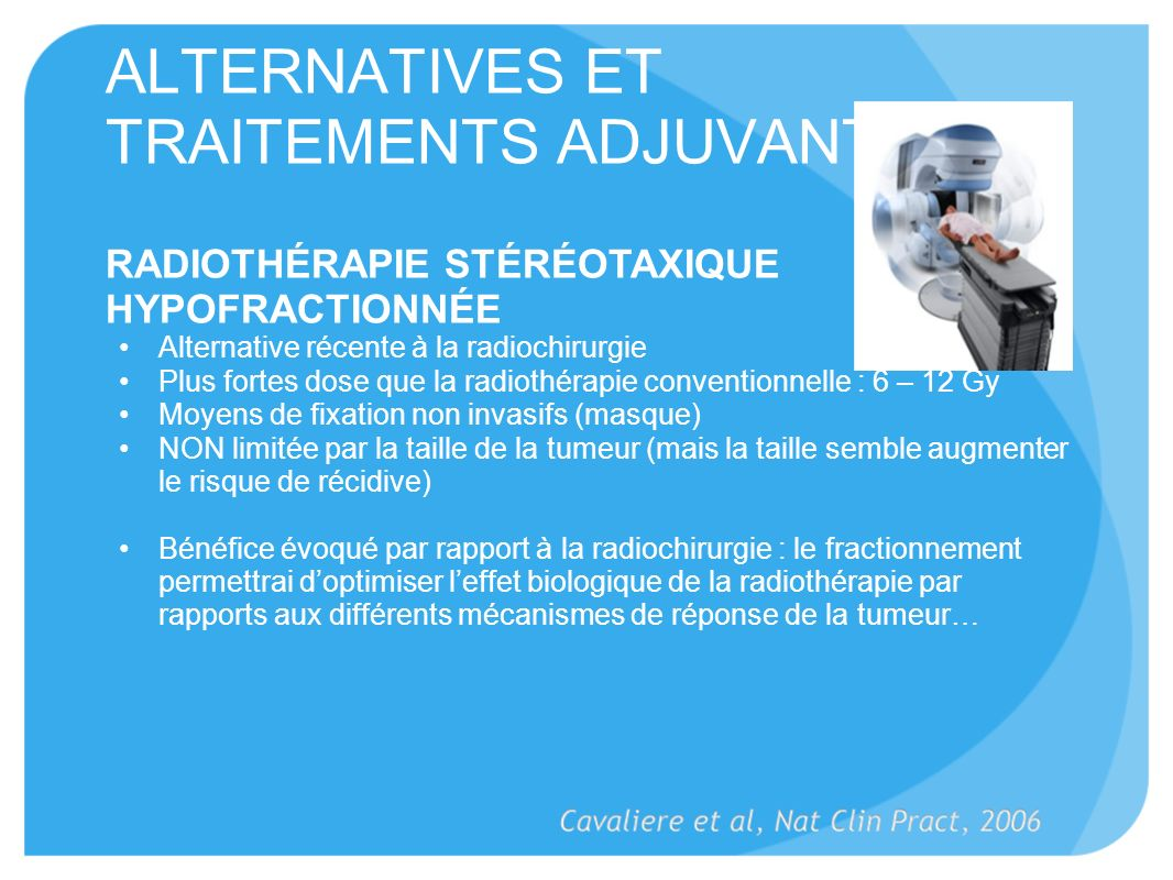 ALTERNATIVES ET TRAITEMENTS ADJUVANTS (4)