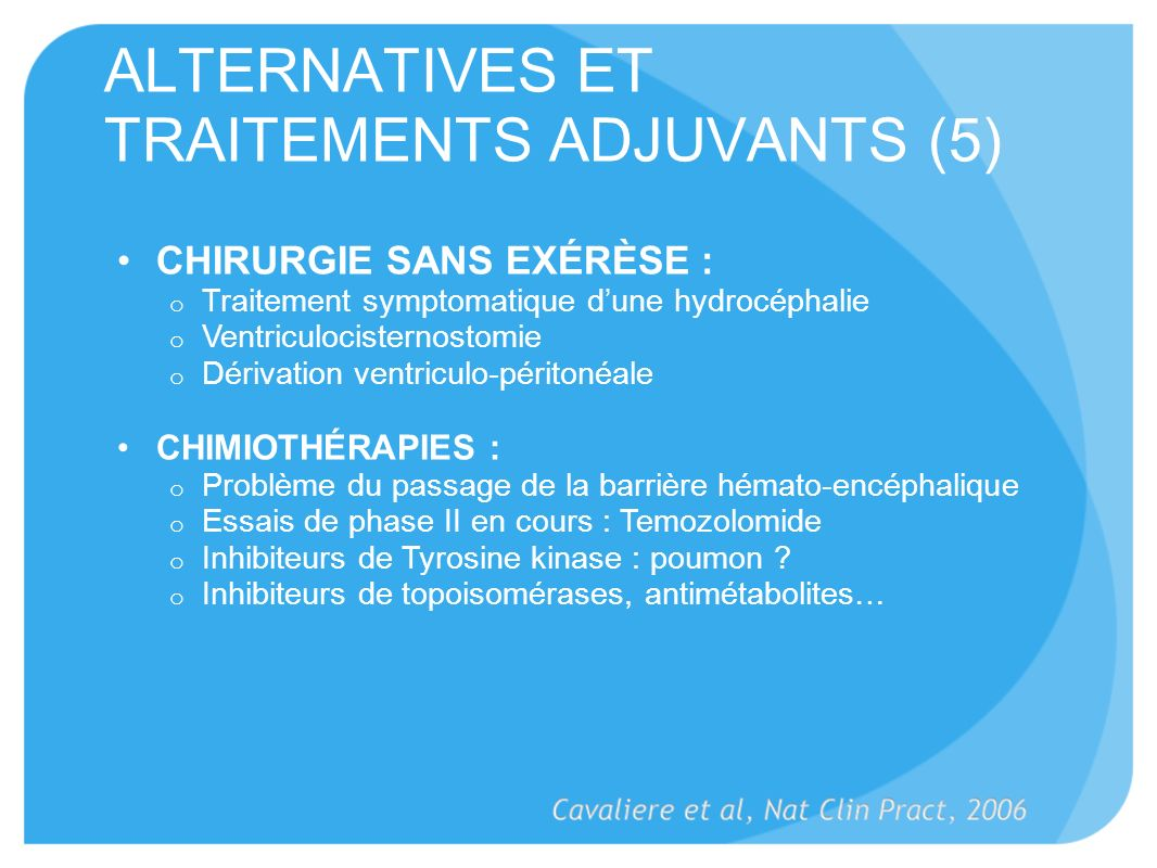 ALTERNATIVES ET TRAITEMENTS ADJUVANTS (5)