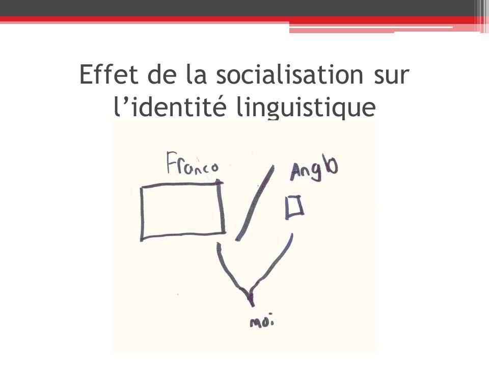 Effet de la socialisation sur l'identité linguistique