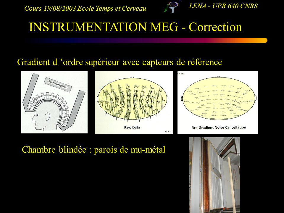 INSTRUMENTATION MEG - Correction