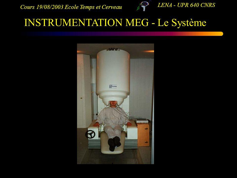 INSTRUMENTATION MEG - Le Système