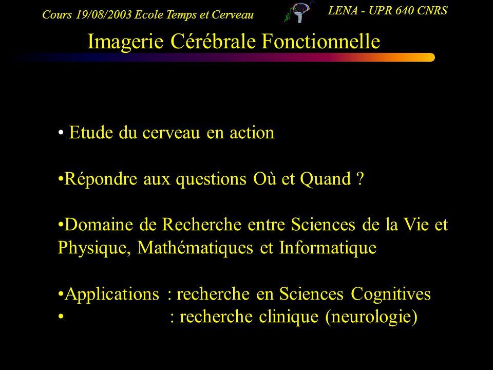 Imagerie Cérébrale Fonctionnelle