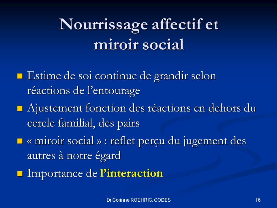 Nourrissage affectif et miroir social