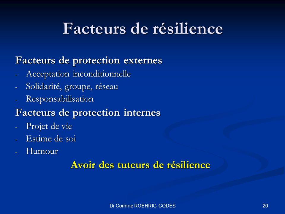 Facteurs de résilience