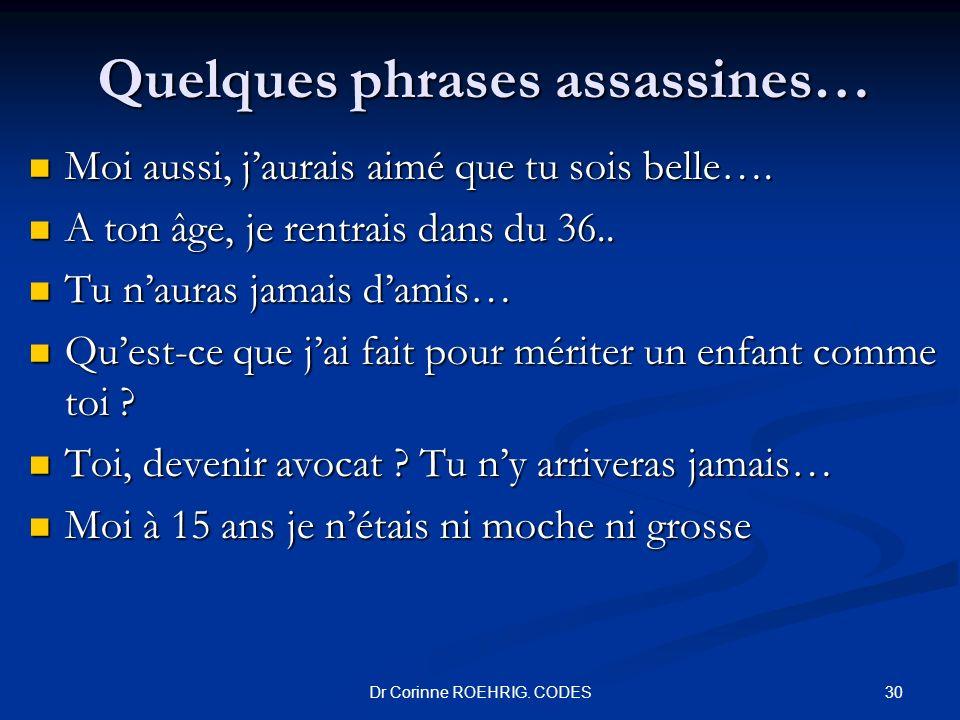 Quelques phrases assassines…