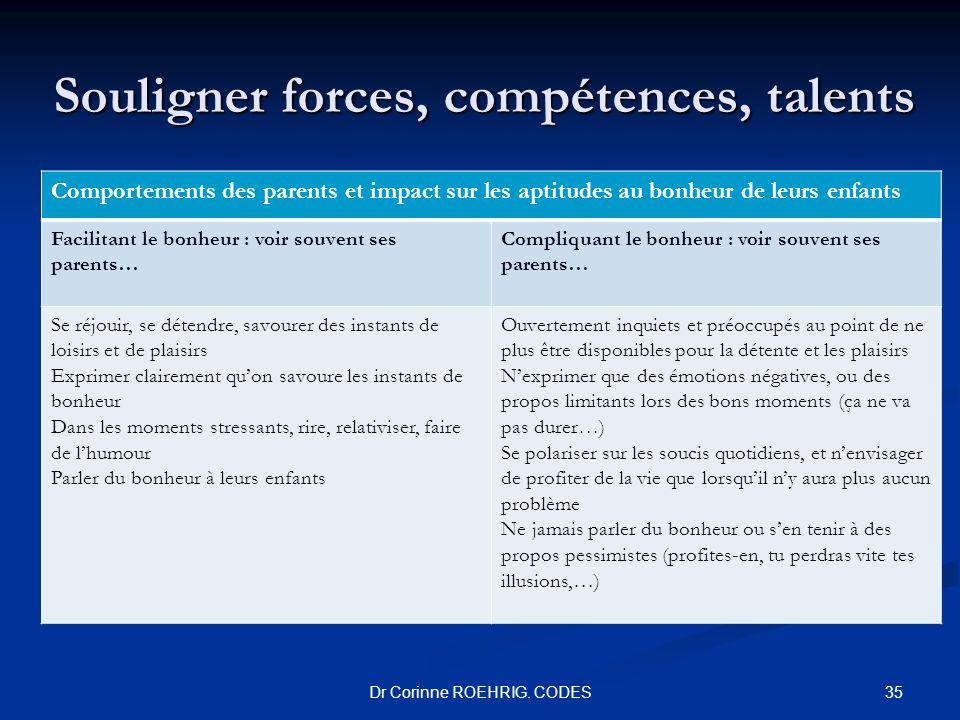 Souligner forces, compétences, talents