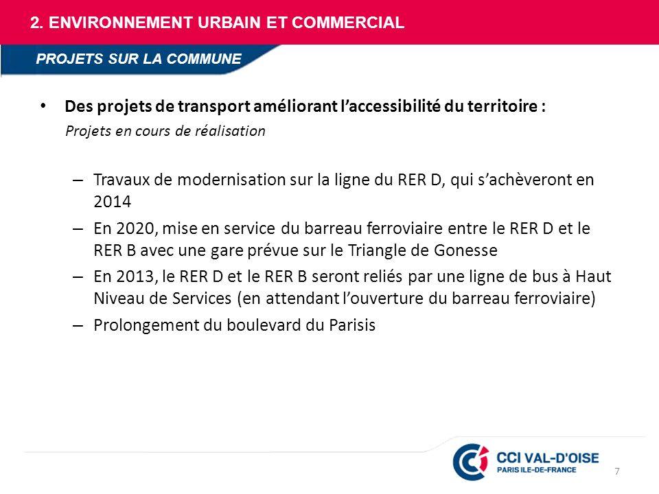 Des projets de transport améliorant l'accessibilité du territoire :
