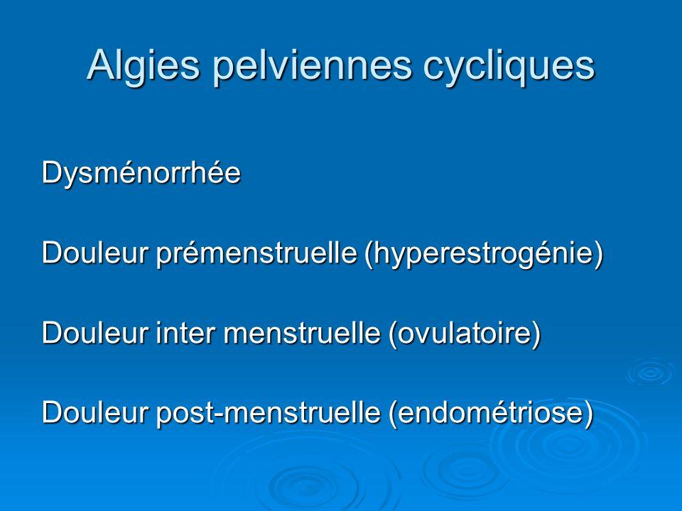Algies pelviennes cycliques