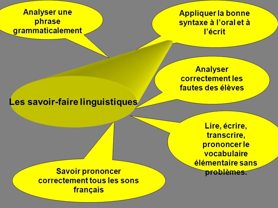 Les savoir-faire linguistiques