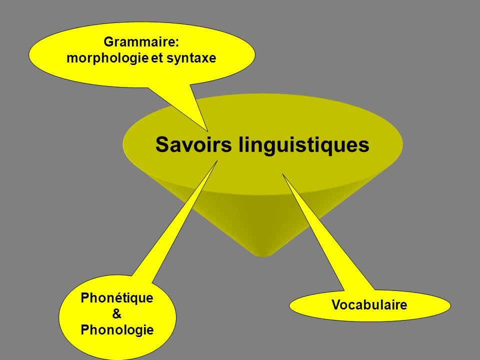 Savoirs linguistiques