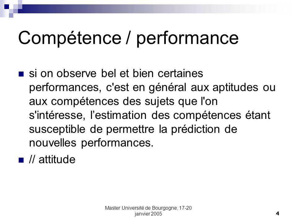 Compétence / performance
