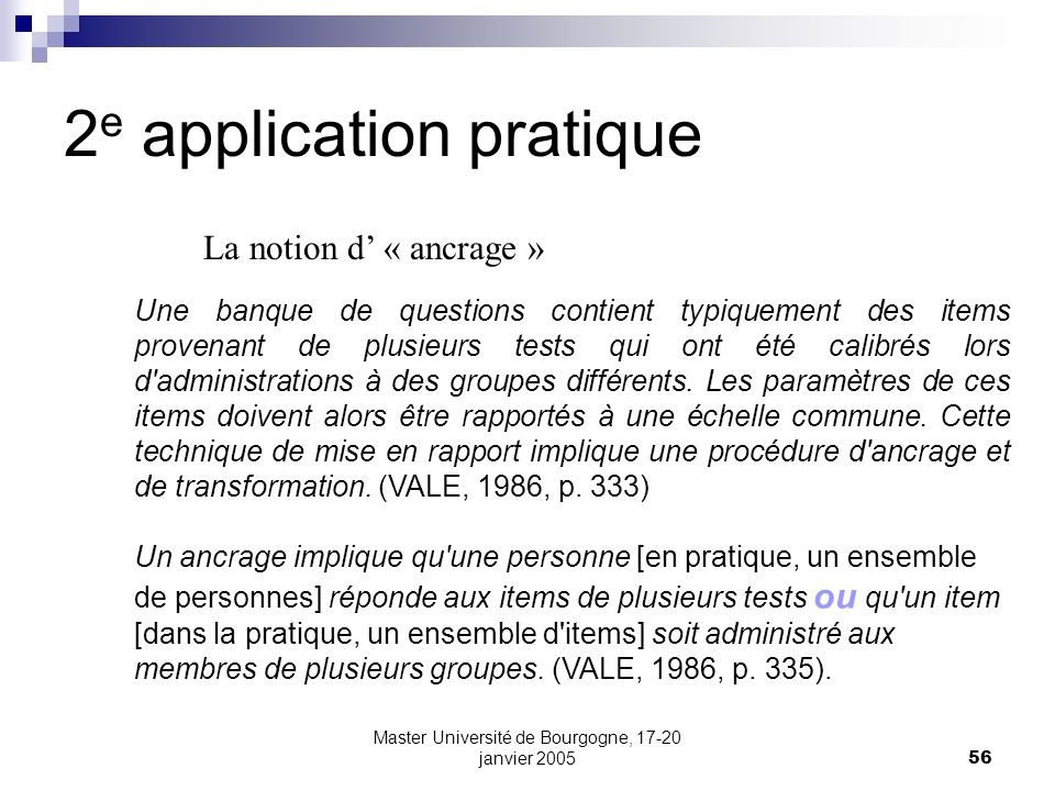 2e application pratique