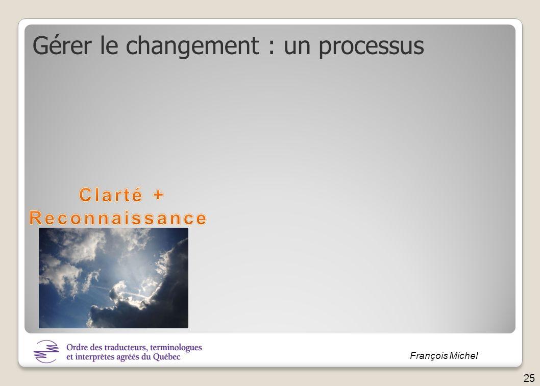 Gérer le changement : un processus