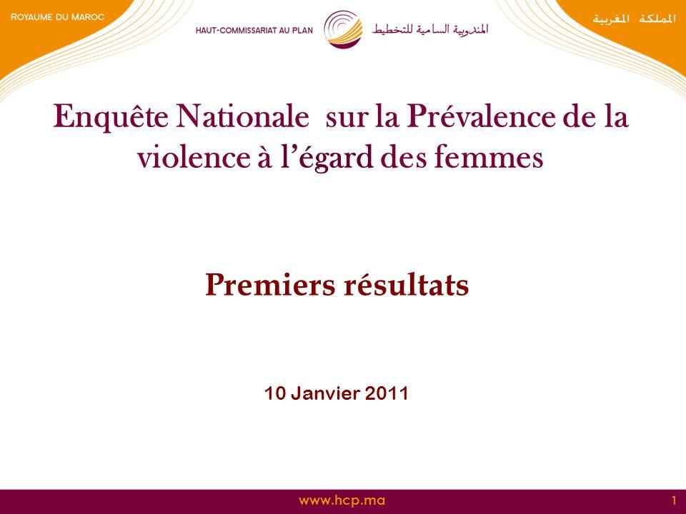 Enquête Nationale sur la Prévalence de la violence à l'égard des femmes
