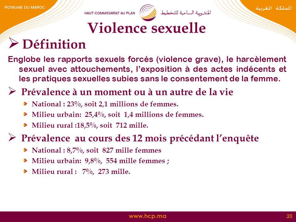 Violence sexuelle Définition