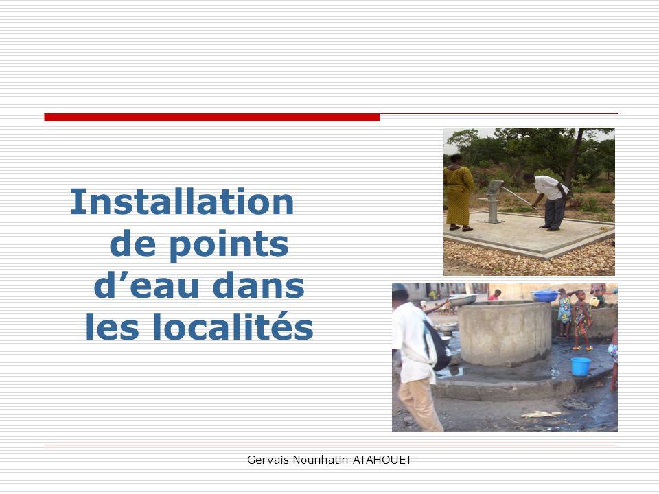 Installation de points d'eau dans les localités