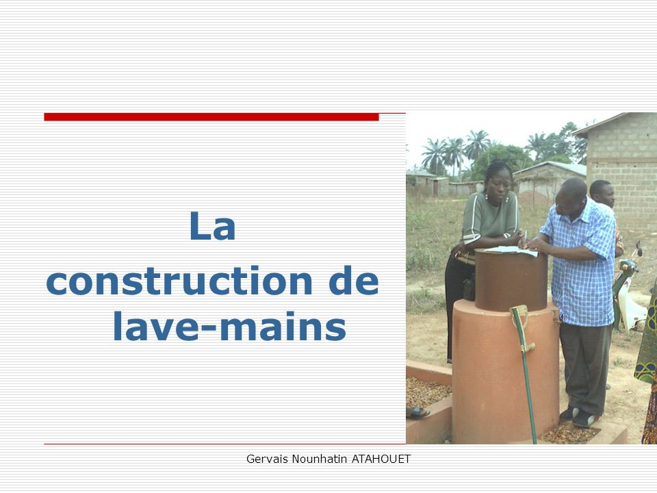 construction de lave-mains