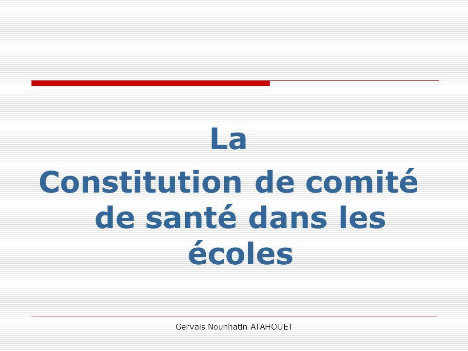 Constitution de comité de santé dans les écoles