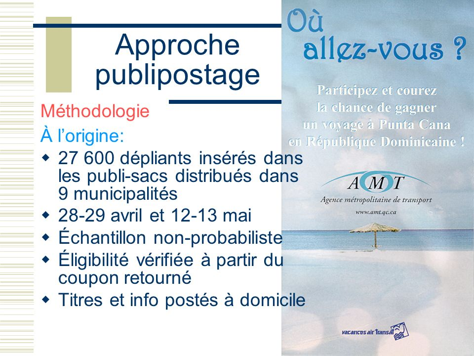 Approche publipostage