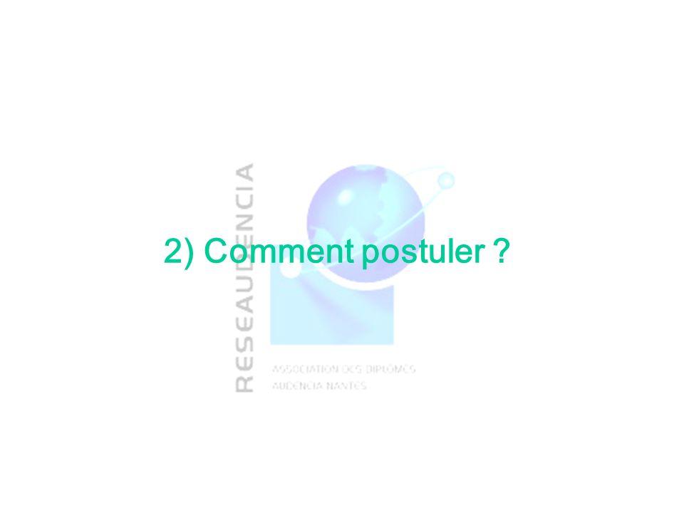2) Comment postuler