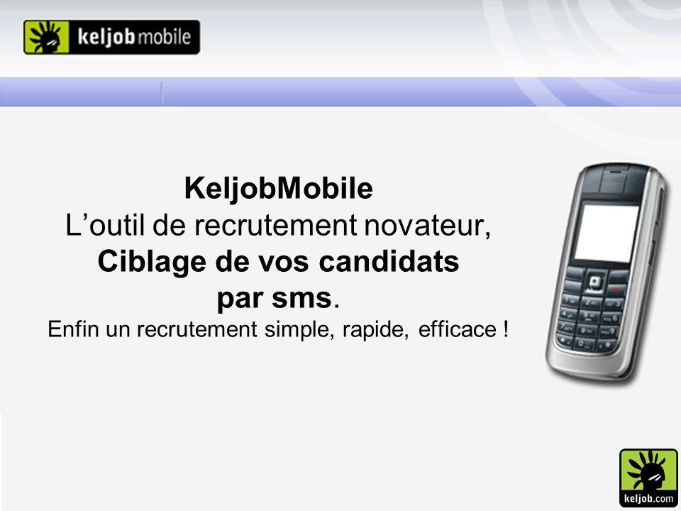 KeljobMobile L'outil de recrutement novateur, Ciblage de vos candidats par sms.