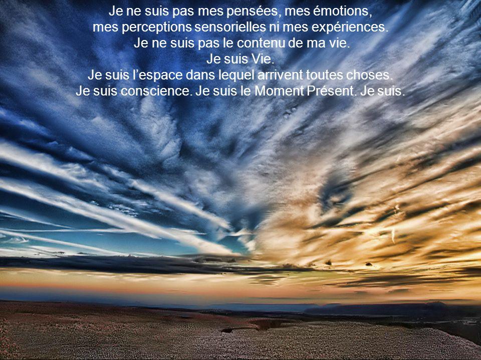 Je ne suis pas mes pensées, mes émotions,