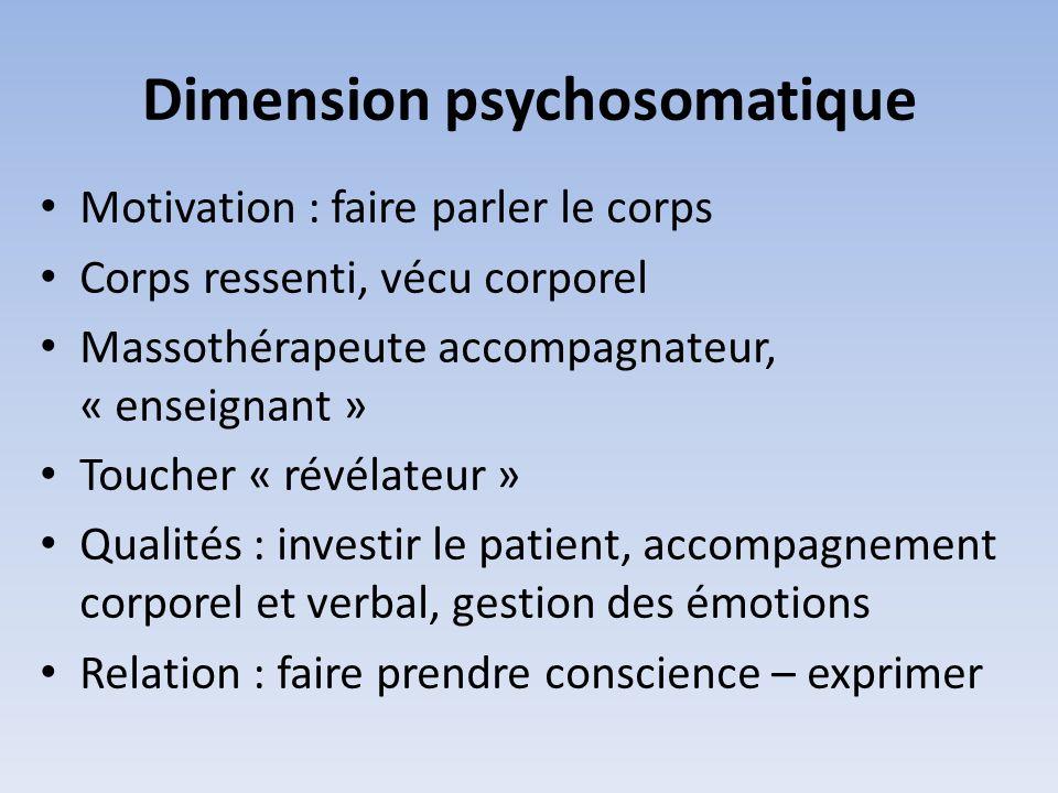 Dimension psychosomatique