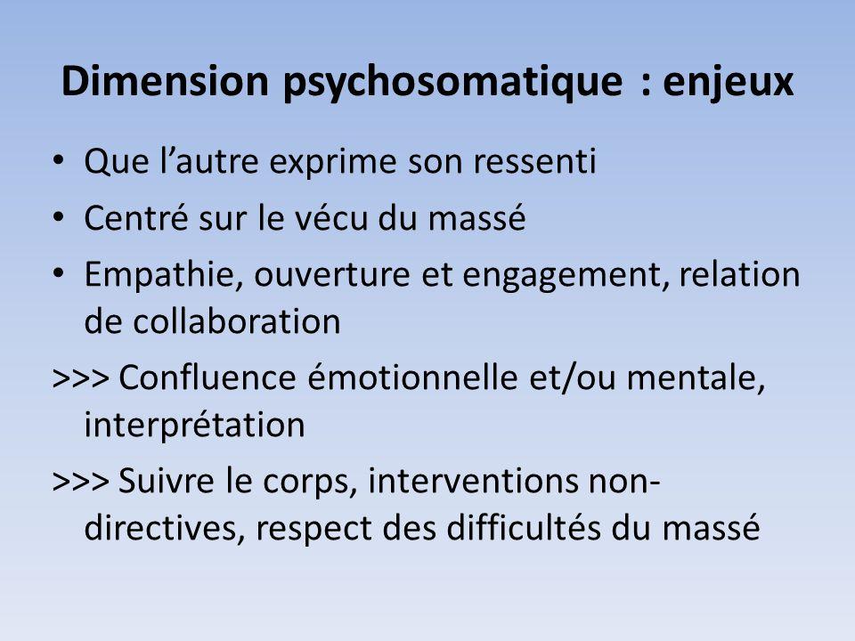 Dimension psychosomatique : enjeux