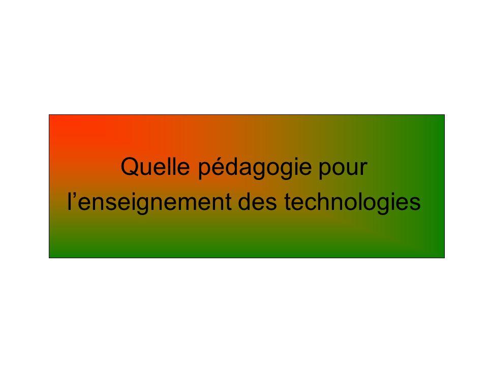 l'enseignement des technologies