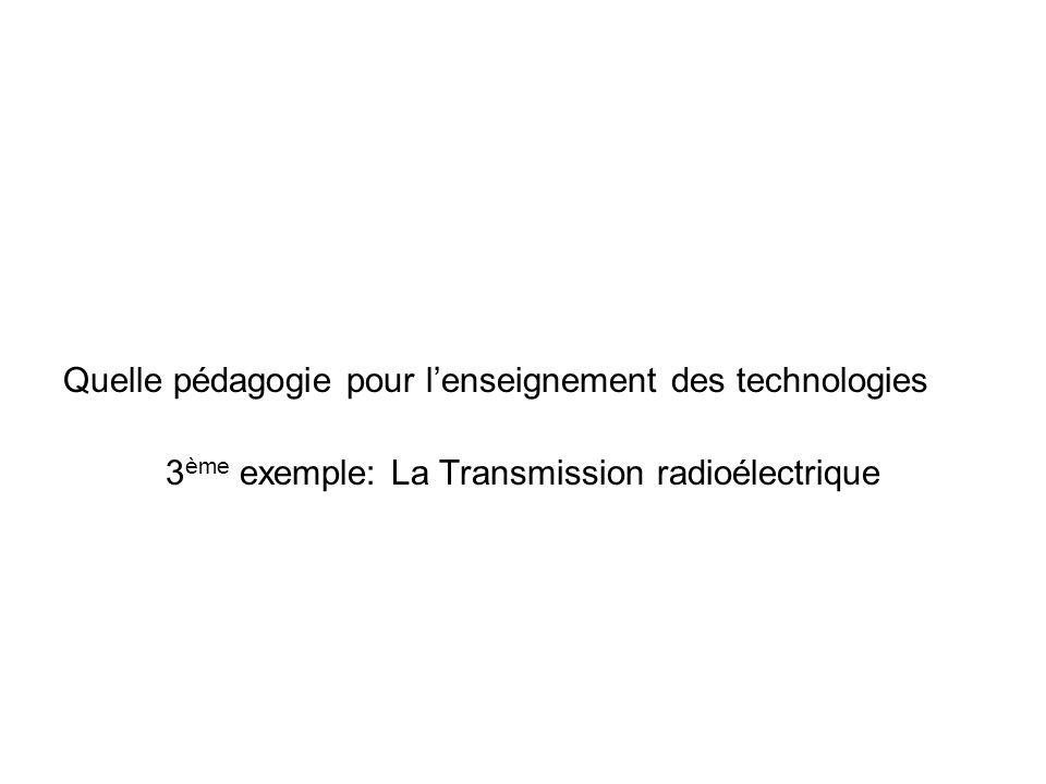 3ème exemple: La Transmission radioélectrique