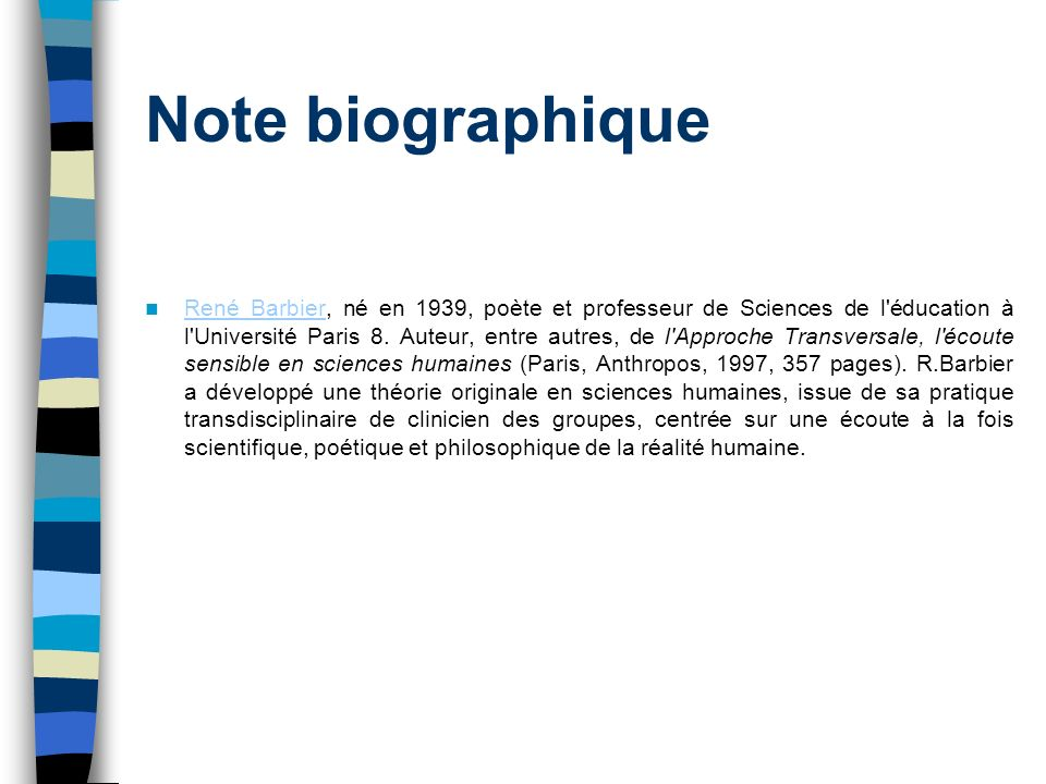 Note biographique
