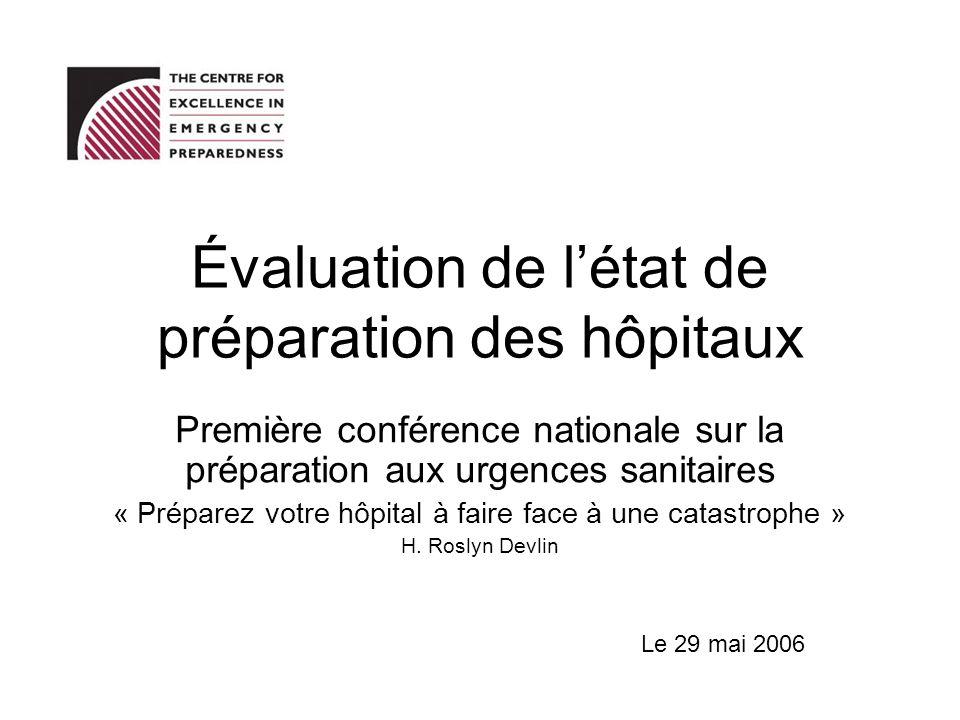 Évaluation de l'état de préparation des hôpitaux