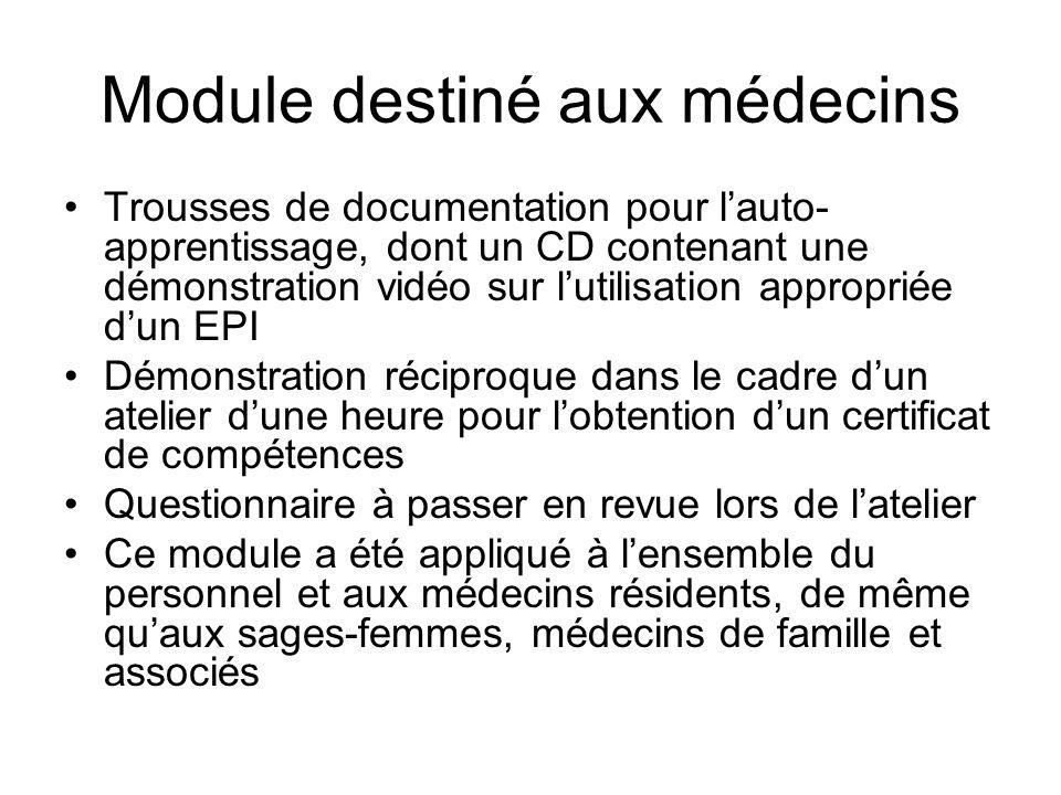 Module destiné aux médecins