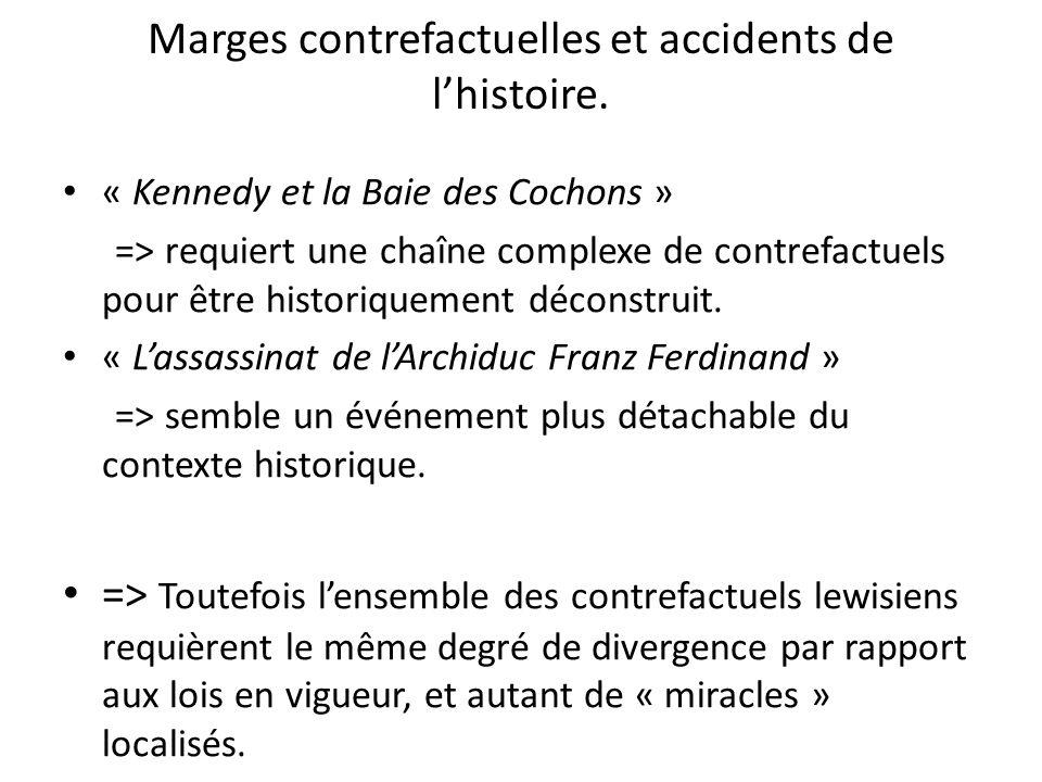 Marges contrefactuelles et accidents de l'histoire.