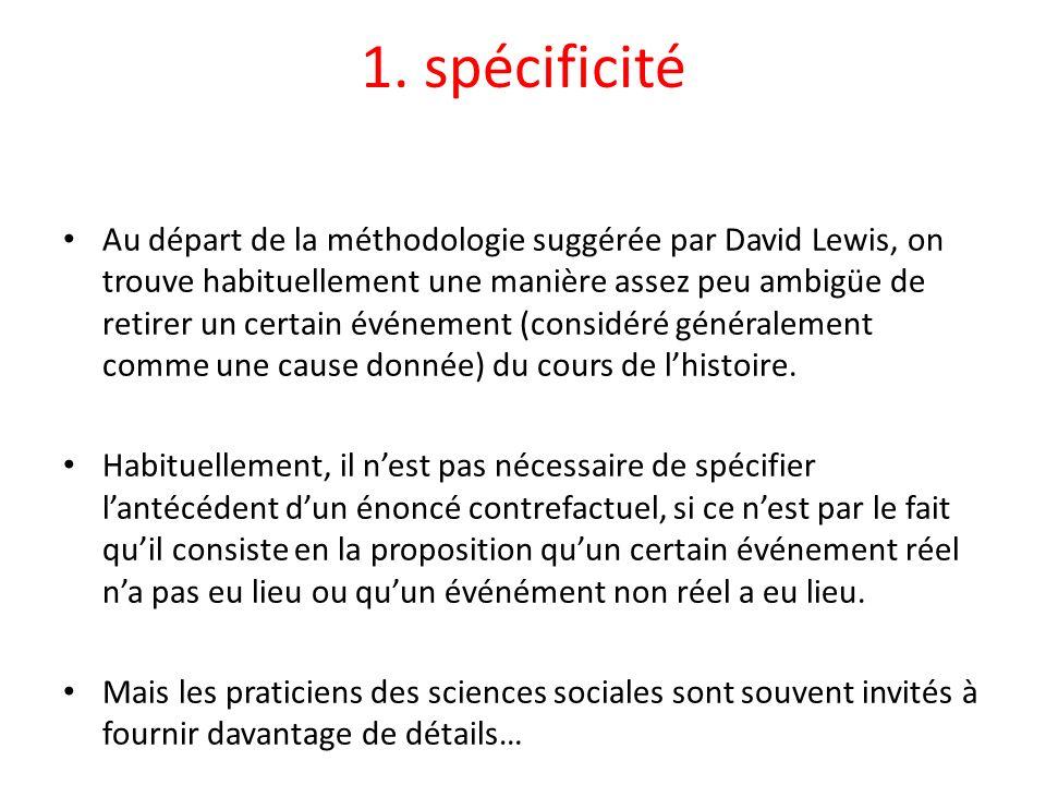 1. spécificité