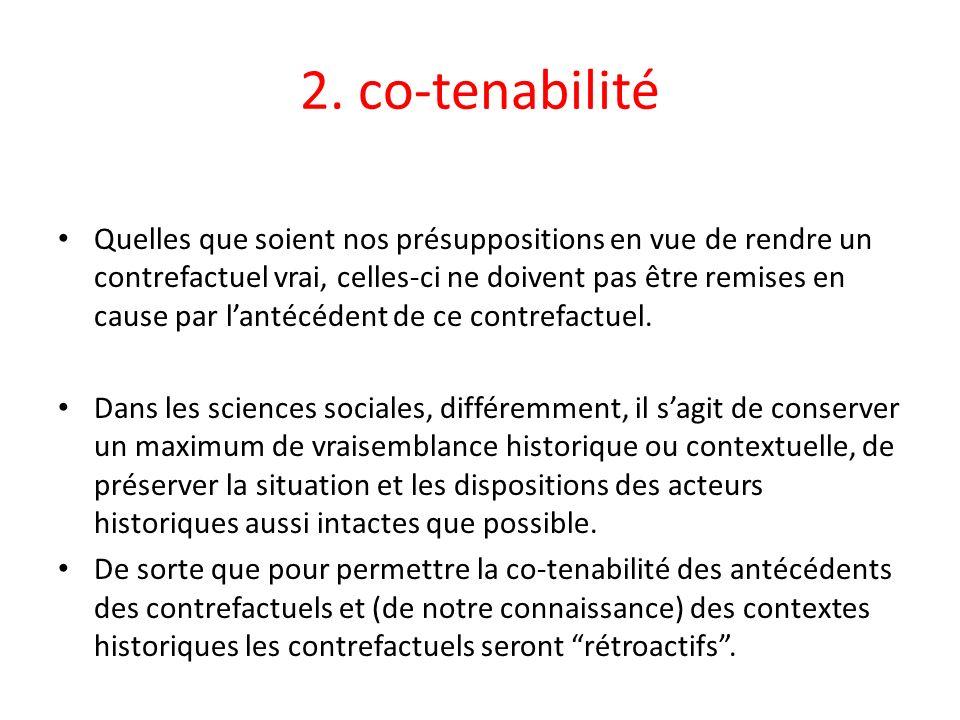 2. co-tenabilité