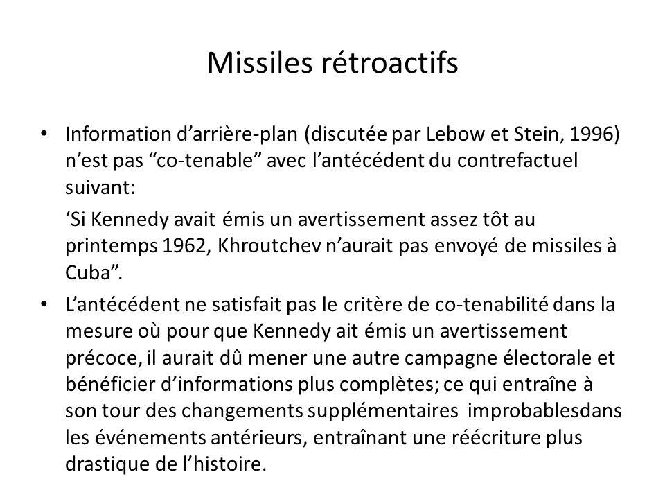 Missiles rétroactifs