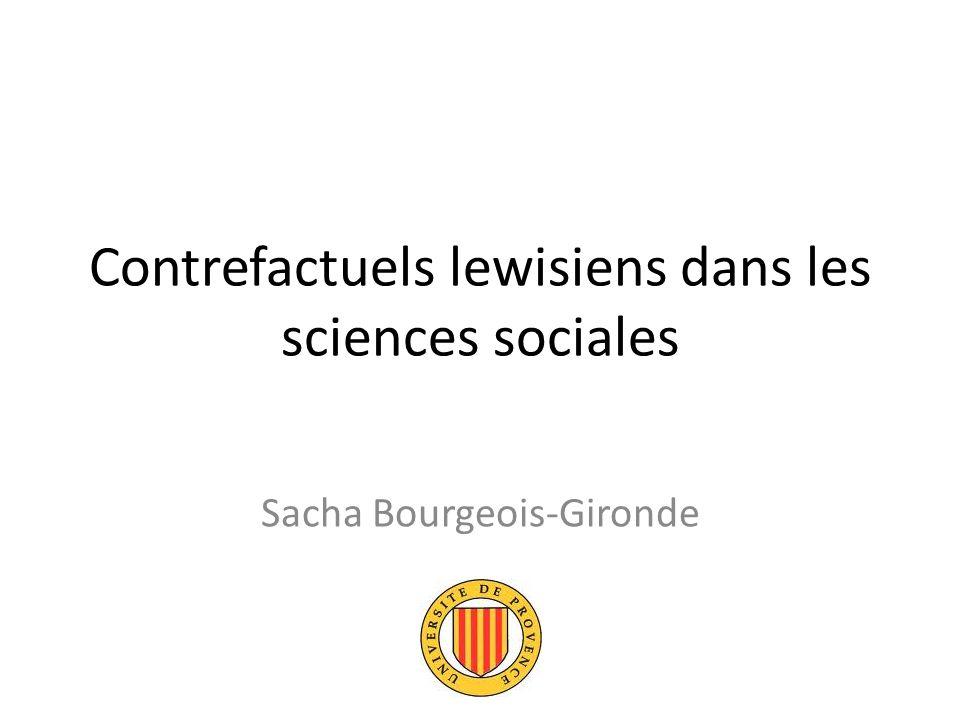 Contrefactuels lewisiens dans les sciences sociales