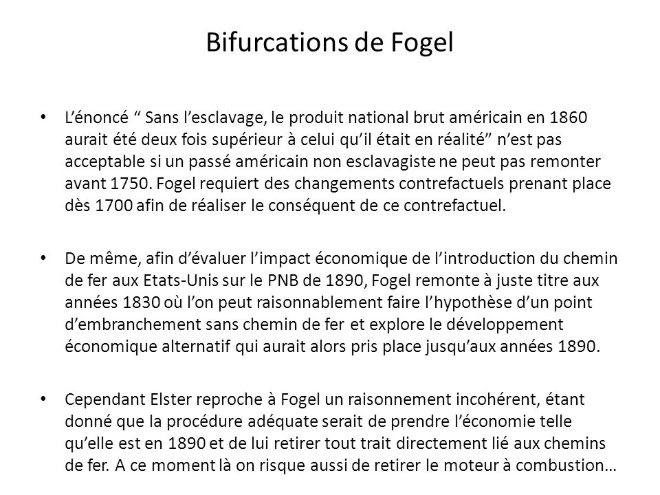 Bifurcations de Fogel