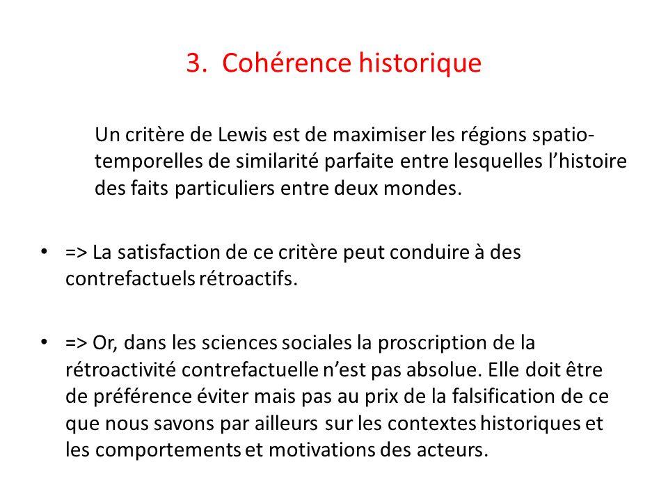 3. Cohérence historique